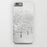 iPhone & iPod Case featuring Winter Apple Orchard by Bella Blue Photography