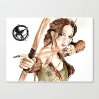 Mockingjay. Katniss Everdeen. Canvas Print
