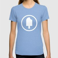 Fudgesicle! Womens Fitted Tee Tri-Blue SMALL