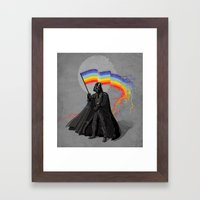 The Rainbow Side of the Force Framed Art Print