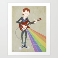 Radiohead Thom in Rainbows Art Print