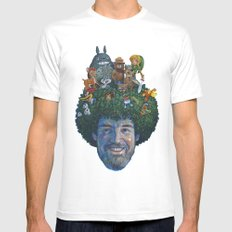 Bob Ross Mens Fitted Tee SMALL White