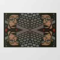 At The Intersection Of Fried Eyeballs Canvas Print