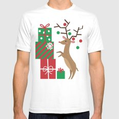 Reindeer Mens Fitted Tee White SMALL
