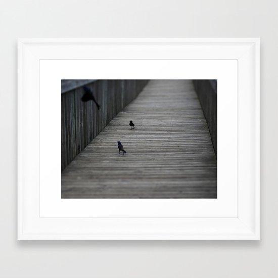Black Birds Framed Art Print