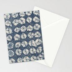 Indigo Spiderweb Shibori Stationery Cards