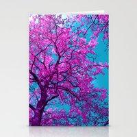 purple tree XXIX Stationery Cards