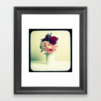 Roses & Lavender Framed Art Print