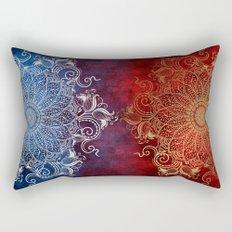 Mandala - Fire & Ice Rectangular Pillow
