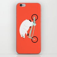 Hipster Bear iPhone & iPod Skin