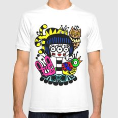 imaginary friends SMALL White Mens Fitted Tee
