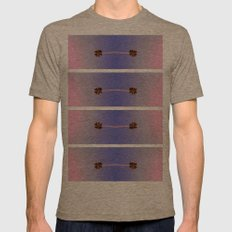 palm trees Mens Fitted Tee Tri-Coffee SMALL