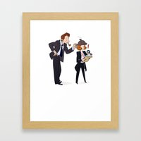 The Game is Afoot! [X-Files] Framed Art Print