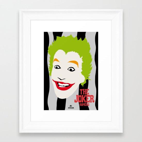 JOKER BLACK&GREY Framed Art Print