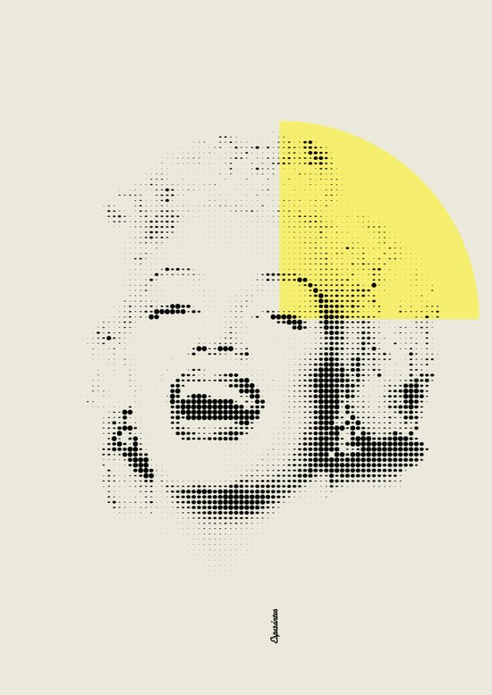 Marilyn Monroe | Esperantos | Dot-file #1 Art Print