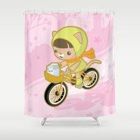 Blossom Ride Shower Curtain