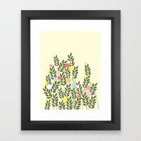 graphic flowers Framed Art Print