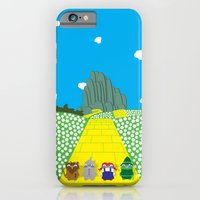 iPhone & iPod Case featuring Pengwins that are following a brick road that is yellow by Talking Pengwin