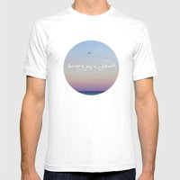 Hanging by a Moment Mens Fitted Tee White SMALL