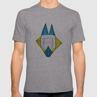 Robo dog Helgi Mens Fitted Tee Athletic Grey SMALL