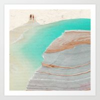 Beach Walk Art Print