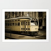 San Francisco Street Car Art Print