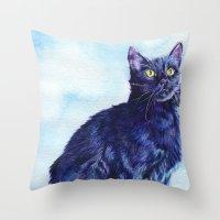 Spot the Cat Throw Pillow