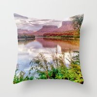 Colorado River at Moab Throw Pillow