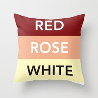 French Wines Bordeaux Bourgogne Throw Pillow
