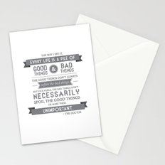 Good Things & Bad Things (gray) Stationery Cards