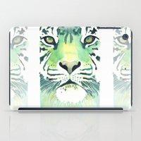 Green Tiger iPad Case