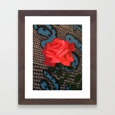 Comic Rose Framed Art Print