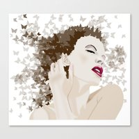 Kylie And The Butterlies… Canvas Print