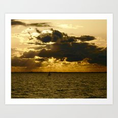 The Dramatic Zuider Zee Art Print