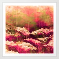 IT'S A ROSE COLORED LIFE… Art Print