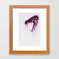 Painted Skull Purple Framed Art Print