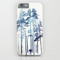 winter iPhone & iPod Cases featuring Winter Wolf by Robert Farkas
