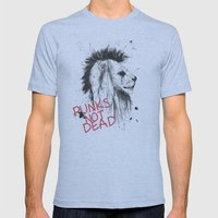 Punks Not Dead Mens Fitted Tee Athletic Blue SMALL