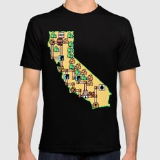 Super California Mens Fitted Tee Black SMALL