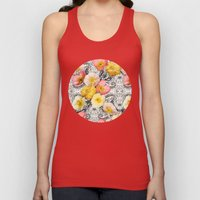 Collage of Poppies and Pattern Unisex Tank Top