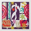 Inspired to Matisse (violet) Canvas Print