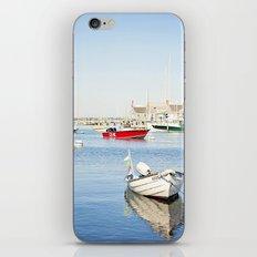 Boats Reflecting in Harbor in Nantucket iPhone & iPod Skin