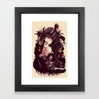 Dark Swan Framed Art Print
