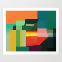 Sideways Stacks Art Print