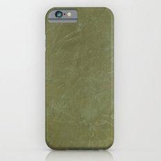 Tuscan Olive Green Plaster iPhone 6 Slim Case