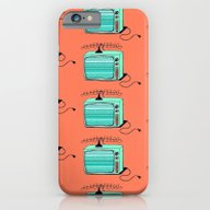 iPhone & iPod Case featuring Television (aqua Tangeri… by The Wallpaper Files