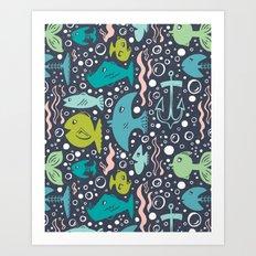Fishy Fishy Art Print