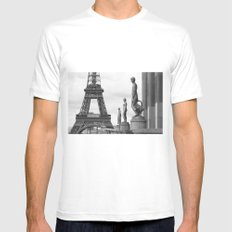 Paris SMALL Mens Fitted Tee White