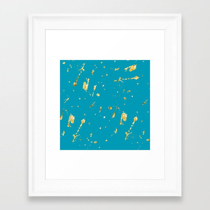 teal and gold framed art print by haroulita society6. Black Bedroom Furniture Sets. Home Design Ideas