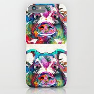 iPhone & iPod Case featuring Colorful Pig Art - Squea… by Sharon Cummings